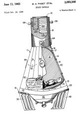 """Space capsule"", 1959 (US3093346A)"