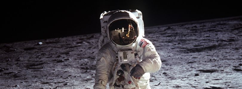 Astronaut Buzz Aldrin on the Moon, 21 July 1969