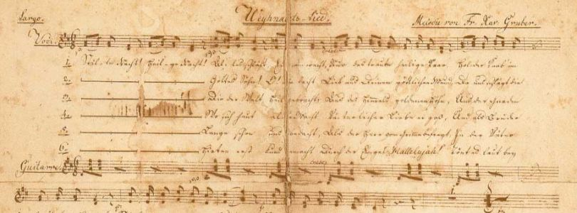 Joseph Mohr´s autograph of the song, 1820
